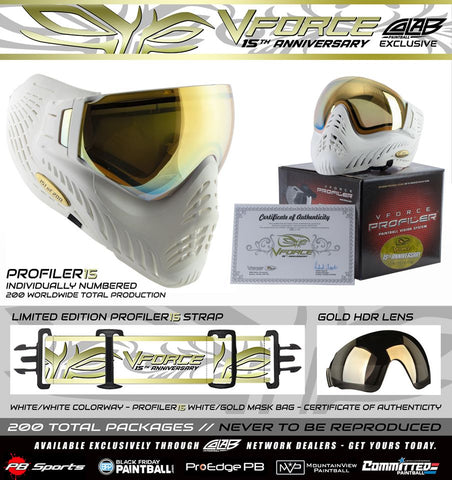 VForce Profiler Mask 15th Anniversary White Gold - 1 of 200 - V-Force