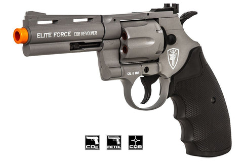 "Elite Force 4"" CQB Revolver CO2 Airsoft Pistol - Gunmetal Grey"