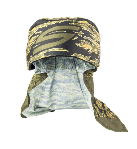Social Paintball Grit Deluxe Headwrap - Tigerstripe Olive - Social Paintball