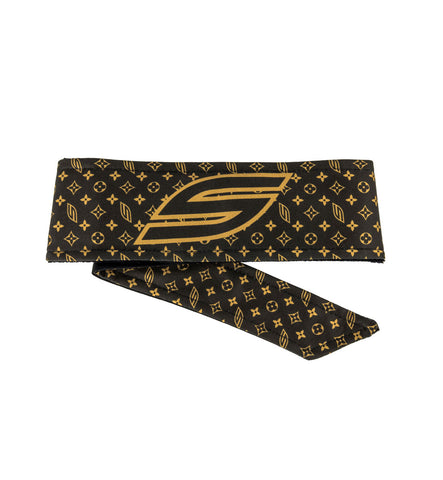 Social Paintball Grit Deluxe Long Tie Headwrap - Social LV Brown