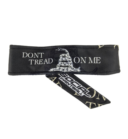Social Paintball Grit Deluxe Long Tie Headband - Don't Tread On Me - Social Paintball