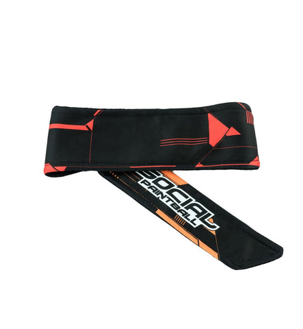 Social Paintball Grit Deluxe Long Tie Headband - Tron Black - Social Paintball