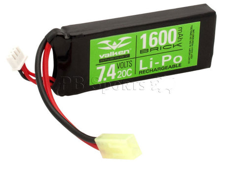 Valken Energy LiPo 7.4v 1200mAh 20C Mini Flat Style battery - Valken Paintball
