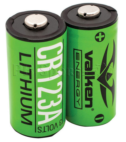 Valken Energy Paintball CR123A Lithium Battery - Pack of 2 - Valken Paintball