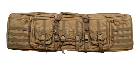 "Valken Tactical 42"" Double Rifle Case - Tan - Valken Paintball"