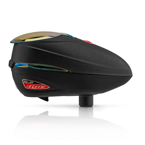DYE Rotor R2 Paintball Loader - Black/Fire Red - DYE