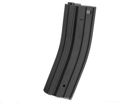 "Matrix ""Universal Feeding"" Full Metal 500rd Hi-Cap M4 AEG Magazine - Black - Evike"