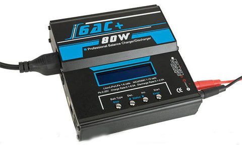 Ipower 6AC PRO 80W/5A Computer Battery Balancer Charger (NiCd NiMh Lipoly LiIon LiMn)