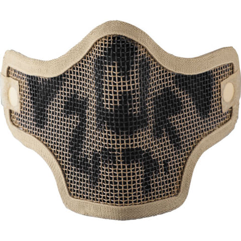 Valken Tactical 2G Wire Mesh Airsoft Mask - Tan Skull