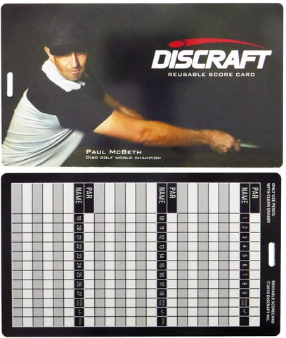 Discraft Erasable Score Card - Discraft