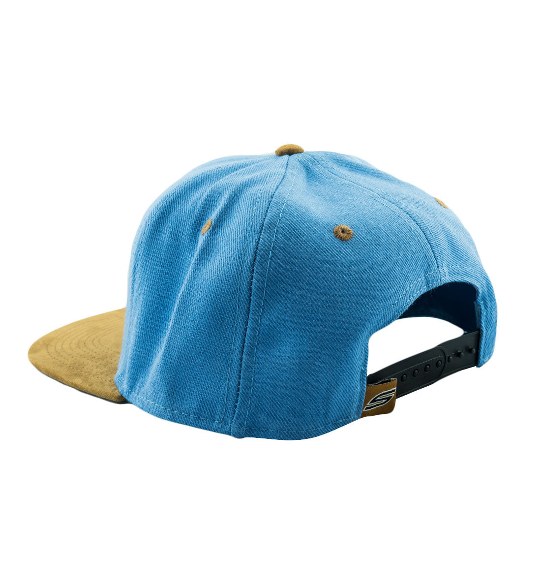 5cebe3183 Social Paintball Snapback Hat - Baby Blue with Tobacco Suede Bill