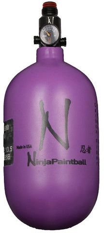 Ninja 68ci 4500psi HPA Tank Dura Purple - Ninja Paintball