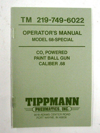 Tippmann 68 Special Manual