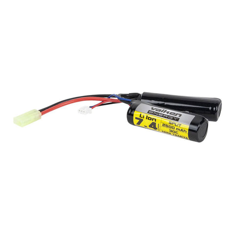 Valken 7.4V 2500mAh LiPo Battery Split MT (High Output) - Valken Paintball