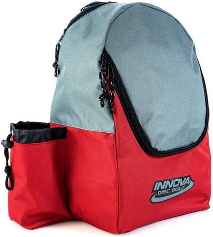 Innova DISCover Disc Golf Backpack - Red/Grey - Innova