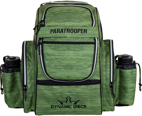 Dynamic Discs Paratrooper Disc Golf Bag - Scratched Camo Green