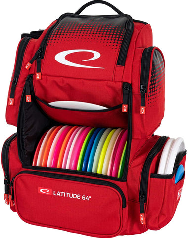Latitude 64 Luxury E4 backpack Disc Golf Bag - Red