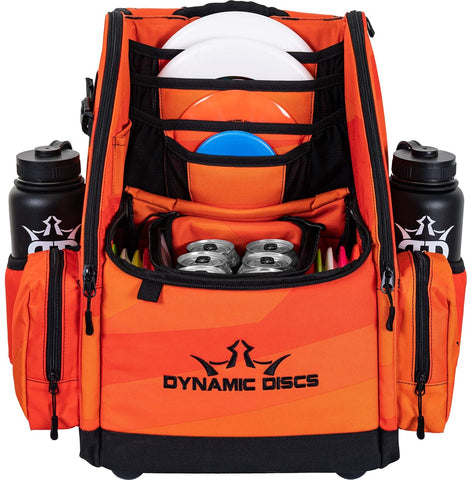 Dynamic Discs Commander Cooler Backpack Disc Golf Bag - Infrared Orange - Dynamic Discs