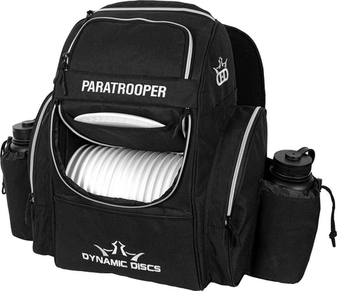 Dynamic Discs Paratrooper Disc Golf Bag - Black - Dynamic Discs