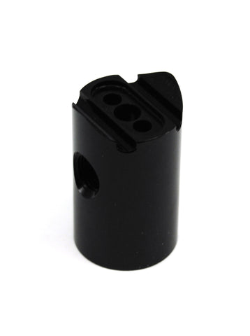 Lapco Cocker Mini Vertical ASA Adapter for Electronic Cockers - 15 Degree Forward w/ Gauge Port - Lapco