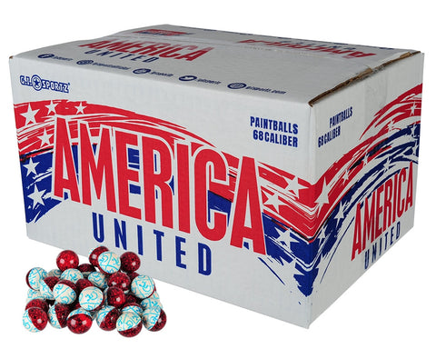 G.I. Sportz America United Paintballs - 2000 Count - Stars & Strips Shell - Empire