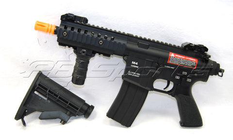 Classic Army CA100M M4 Pistol Full Metal AEG w/ 6-Position Collapsible Stock Combo