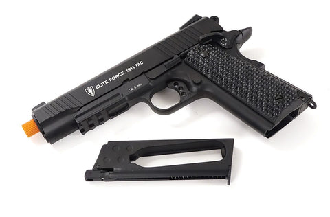 Elite Force 1911 Tac 12 Gram CO2 Semi Auto Metal Blowback Airsoft Pistol Black - Elite Force