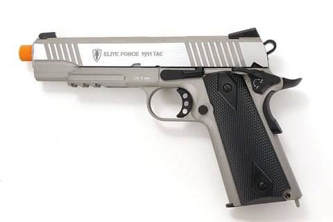 Elite Force 1911 Tac CO2 Semi Auto Metal Blowback Airsoft Pistol Stainless - Elite Force