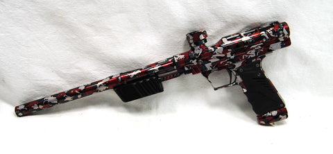 Used Bob Long MVP Red Camo Pump Paintball Marker