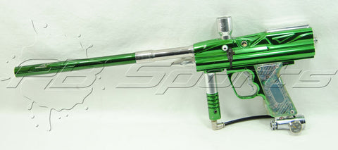 Used 01 WDP Angel LCD CNC Cut/Carved Eye Upgrade Greeen Paintball Gun Marker - Angel Paintball Sports