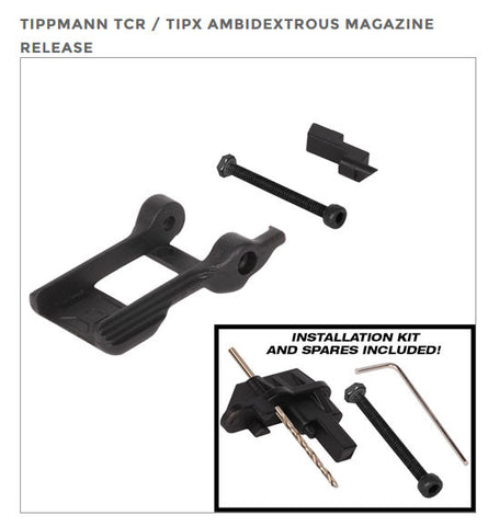NEW Exalt Ambidextrous Release for TiPX & TCR Paintball Markers Mag Feed Release - Exalt