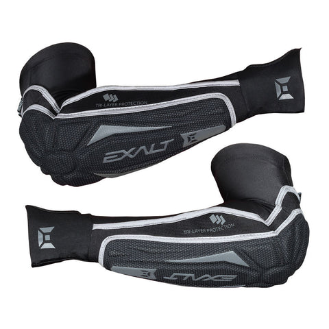 Exalt T3 Elbow Paintball Pads Black L/XL - Exalt