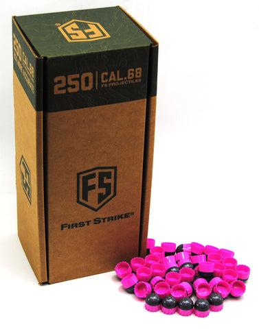First Strike Rounds - 250 Round - Smoke/Pink-Pink