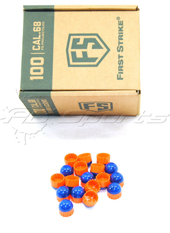 First Strike Rounds - 100ct - Blue/Orange