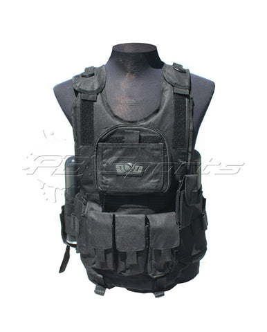GxG Tactical Paintball Vest - Black - GxG