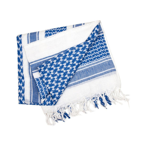 Valken Outdoor Gotcha Shemagh Scarf - Blue/White - Valken Paintball