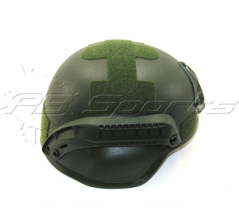 V Tactical Airsoft Helmet MICH 2000 w/Mount&Rails Green - Valken Paintball