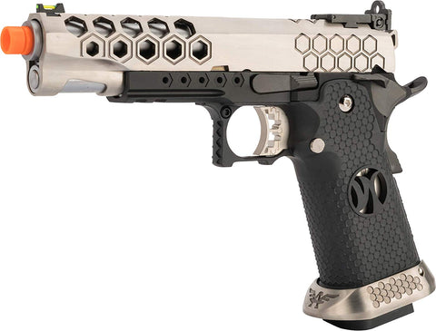 AW Custom HX25 Full Metal Competition Ready Gas Blowback Airsoft Pistol - Silver - AW Custom