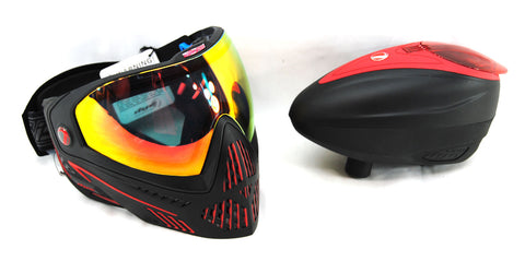Dye I5 Goggle / LT-R Loader Combo - Fire/Red - DYE