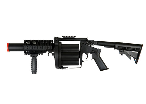 ICS MGL Full Size Airsoft Revolver Grenade Launcher Black - ICS