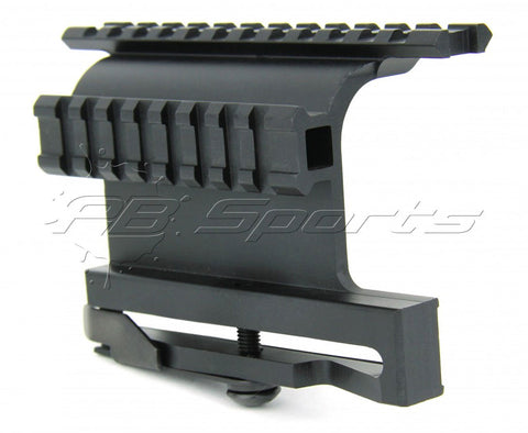TACFIRE AK Double Side Rail Mount with Quick Release Lever - TACFIRE