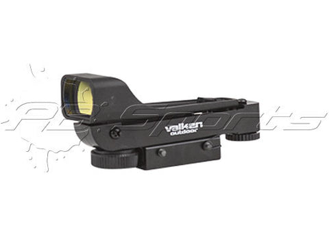 Molded Red Dot Sight - Dual Mount Rail Mounted Optic for Paintball and Airsoft - Valken Paintball