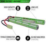 Valken Energy NiMH 9.6v 1600mAh Split & 1A Smart Charger Power Kit - Valken Airsoft