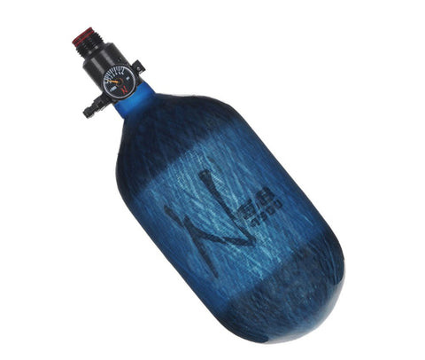 Ninja 68ci 4500psi HPA Tank - Translucent Blue - Standard Regulator - Ninja Paintball