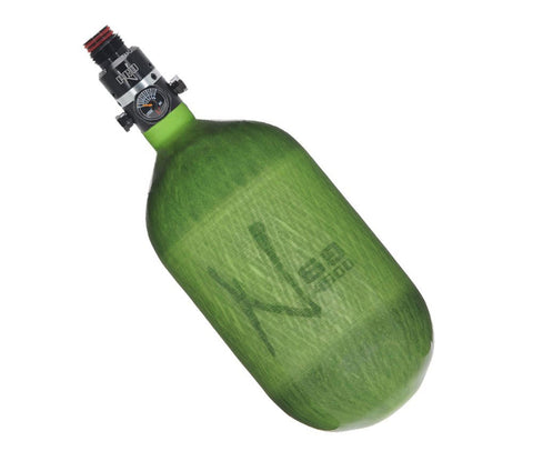 Ninja 68ci HPA Tank Translucent Lime Pro V2 Regulator