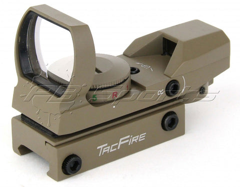TACFIRE Tactical Dual Illuminated Multi Retical Sight - FDE
