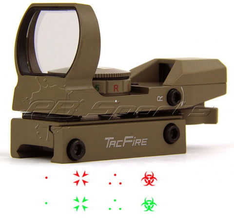 TACFIRE Tactical Dual Illuminated Multi Retical Sight - Apocalypse Edition - FDE