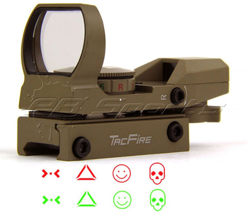 TACFIRE Tactical Dual Illuminated Multi Retical Sight - Predator Edition - FDE