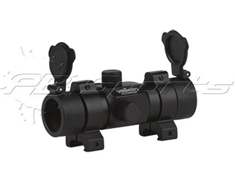 Red Dot Sight 1X30St W/ Weaver Rings For Paintball or Airsoft - Valken Paintball