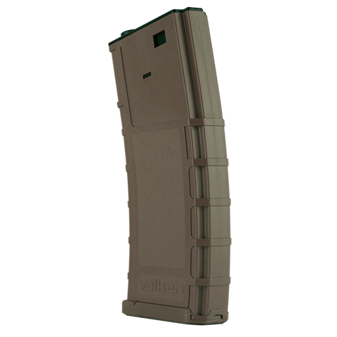 Battle Machine Hi-Cap M4 Airsoft Thermold Magazine 300rd High Capacity - Tan - Valken